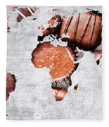Abstract World Map - Chocolates - Confections - Candy Shop Fleece Blanket