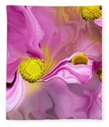 Abstracted Pink Fleece Blanket