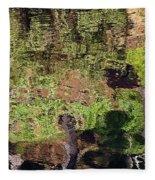 Abstracted Reflection Fleece Blanket