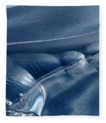 Abstraction In Blue Fleece Blanket
