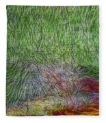 Abstraction Of Life Fleece Blanket
