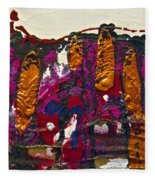 Abstracts 14 - The Deep Dark Woods Fleece Blanket