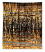 Abstract Reed And Water Patterns Fleece Blanket