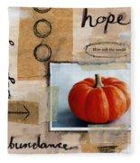 Abundance Fleece Blanket by Linda Woods
