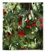 Abundant Cherries Fleece Blanket