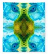 Abundant Life - Pattern Art By Sharon Cummings Fleece Blanket