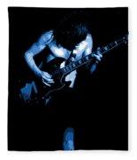 Ac Dc #35 In Blue Fleece Blanket