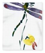 Acacion Dragonfly Fleece Blanket