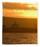 Acadia Lighthouse  Fleece Blanket