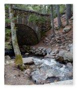 Acadia National Park Carriage Road Bridge Fleece Blanket