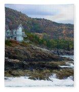Acadia Seaside Mansion Fleece Blanket