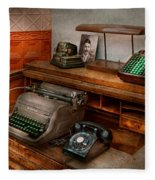 Accountant - Typewriter - The Accountants Office Fleece Blanket