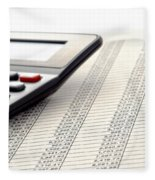 Accounting Fleece Blanket