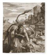 Achelous In The Shape Of A Bull Fleece Blanket