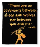 Achilles Admonition Fleece Blanket
