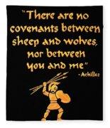 Achilles Admonition Fleece Blanket