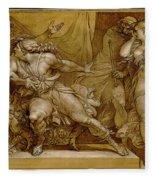 Achilles And Briseis Fleece Blanket