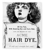 Acme Hair Dye Ad, C1890 Fleece Blanket