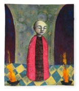 Acolyte With Fire Pots Fleece Blanket