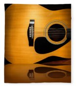 Acoustic Guitar Reflected Fleece Blanket
