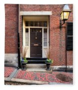 Acorn Street Door And Lamp Fleece Blanket