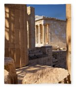 Acropolis Temple Fleece Blanket