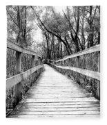 Across The Bridge Fleece Blanket