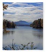 Across The Lake Fleece Blanket