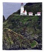 Across The Ocean Blue Fleece Blanket