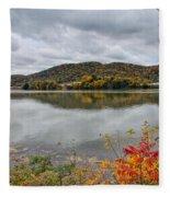 Across The Ohio River Fleece Blanket