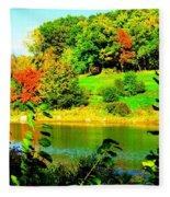 Across The Pond Fleece Blanket