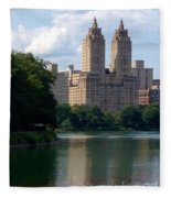 Across The Reservoir Fleece Blanket