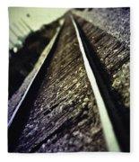 Across The Tracks Fleece Blanket