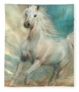 Across The Windswept Sky Fleece Blanket