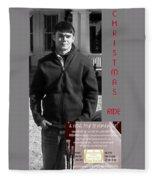 Actor In Christmas Ride Film Fleece Blanket