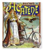Ad Bicycles, 1898 Fleece Blanket