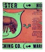 Ad Lobster, C1867 Fleece Blanket