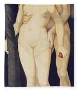 Adam And Eve Fleece Blanket