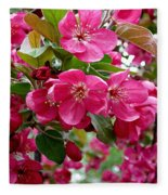 Adams Crabapple Blossoms Fleece Blanket