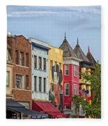 Adams Morgan Neighborhood In Washington D.c. Fleece Blanket