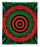 Adinkra Disk Pan-african II Fleece Blanket