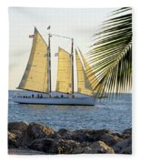 Sailing On The Adirondack In Key West Fleece Blanket