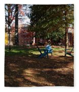 Adirondack Chairs 2 - Davidson College Fleece Blanket