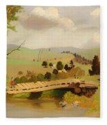 Adirondacks Bridge For Fishing Fleece Blanket