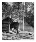 Adirondacks Cabin, C1909 Fleece Blanket