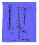 Adjustable Shotgun Choke Control Patent Fleece Blanket