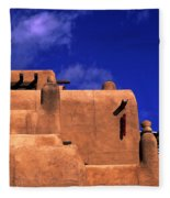 Adobe Architecture Fleece Blanket