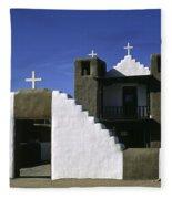 Adobe Church Taos Fleece Blanket