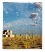Adobe House Fleece Blanket