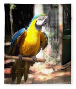 Adopted Macaw - Rescued Parrot Fleece Blanket